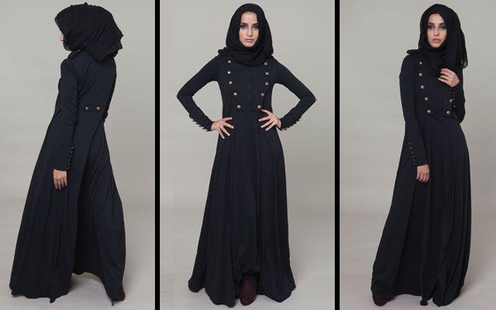 Charreteras Abaya & Chiffon Chic Luxury Black Hijab