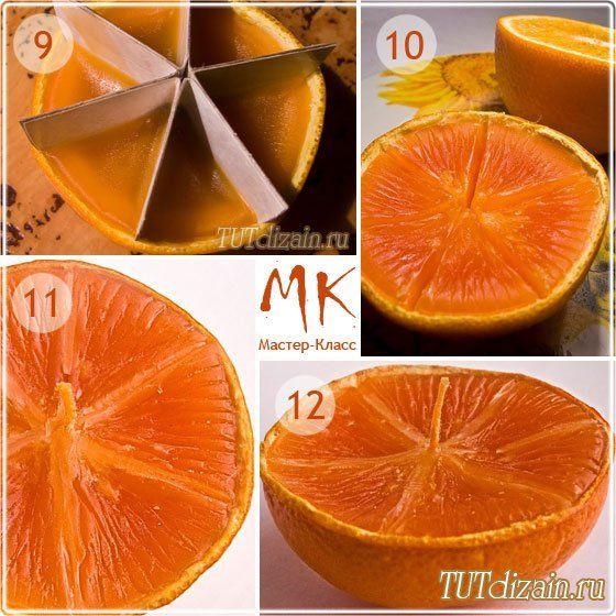 Свеча к новому году из апельсина + Фото » Дизайн & Декор своими руками