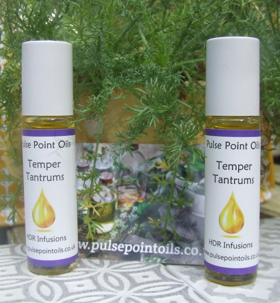 Temper Tantrum Pulse Point Oil. Frustrated infant toddler