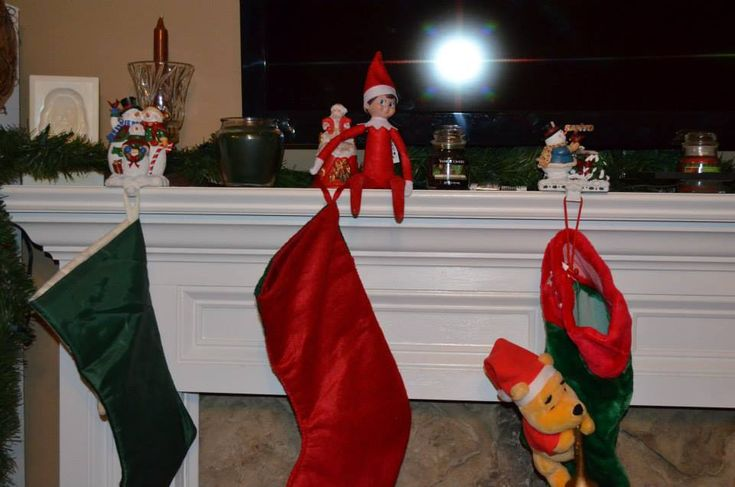 Elf on the Shelf Easy Ideas. Check out the rest of these ideas and her other pins! There's some good ideas here!