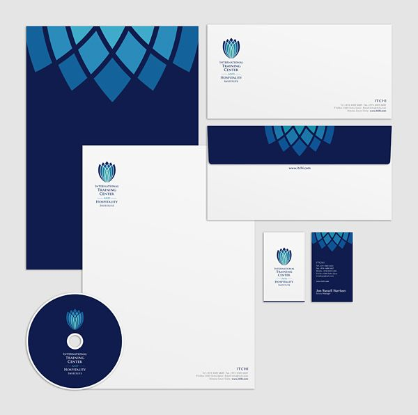 set of corporate identities (Arabic + English) on Branding Served
