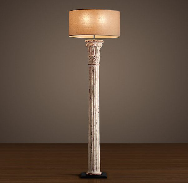 Restoration hardware cast corinthian column floor lamp for Restore wooden floor lamp
