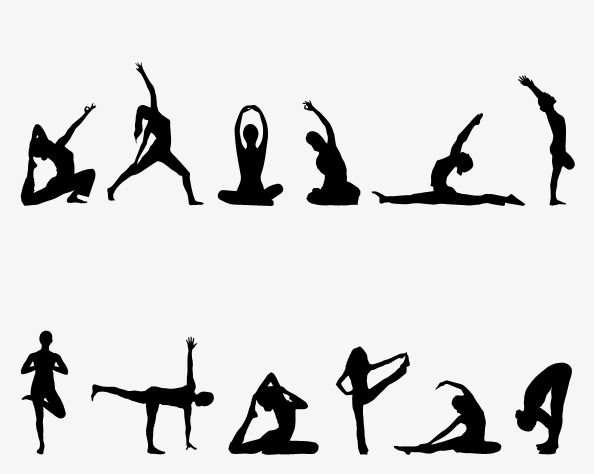 Yoga Silhouette Png And Psd Silhouette Png Silhouette Yoga