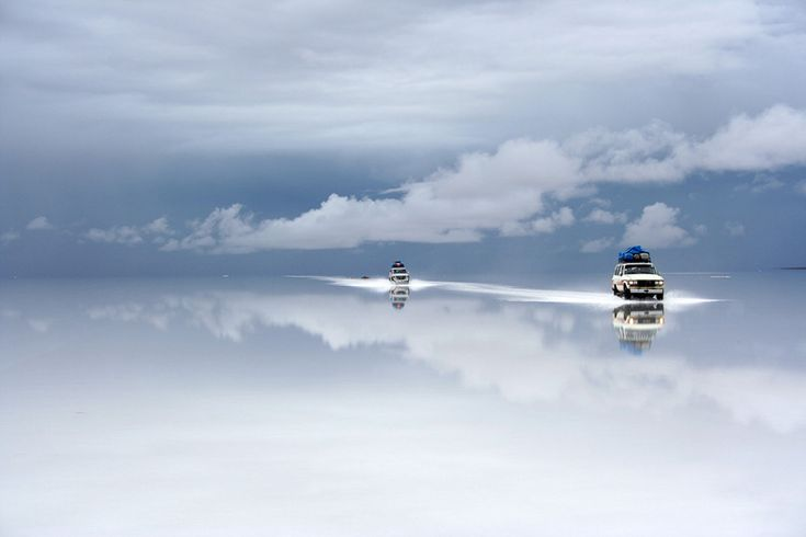 salt desert after the rain, bolivia
