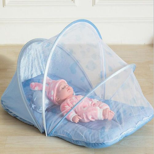 good quality portable baby bed canopy crib netting folding infant mosquito net infantis pink