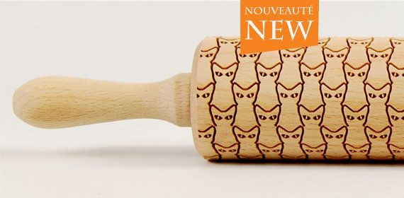 Cats Rolling Pin