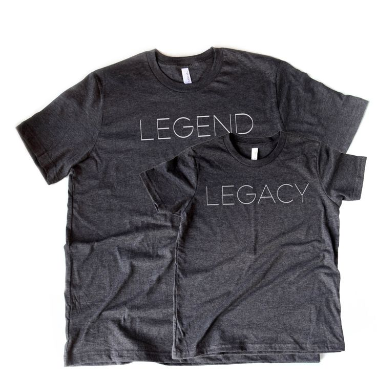 Legend & Legacy Tee Set |  Father and Son Shirt Set | Like Father Like Son | Valentines Shirt Set | T-shirt Set | Tee Set | Dad and Son Tees by opalandharv on Etsy https://www.etsy.com/listing/502597491/legend-legacy-tee-set-father-and-son