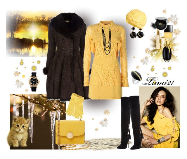 yellow winter by lumi-21 on Polyvore featuring N°21, Alaïa, Steve Madden, Marc Jacobs, Tiffany & Co., Chanel, B Private, Dolce&Gabbana, Bobbi Brown Cosmetics and Butter London
