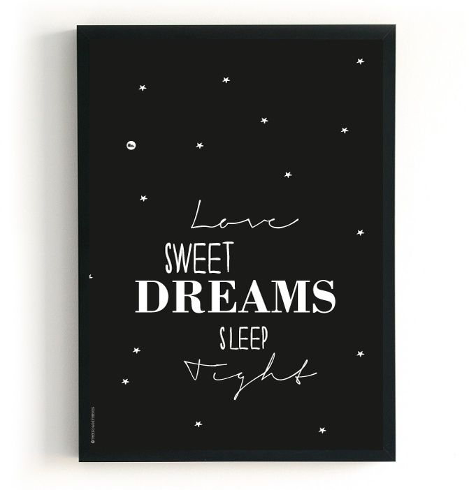 The Birds & The Bees `Poster A4 Moon and Back` 2 in 1   Medium A4 - 21 x 29,7 cm   Petite Louise