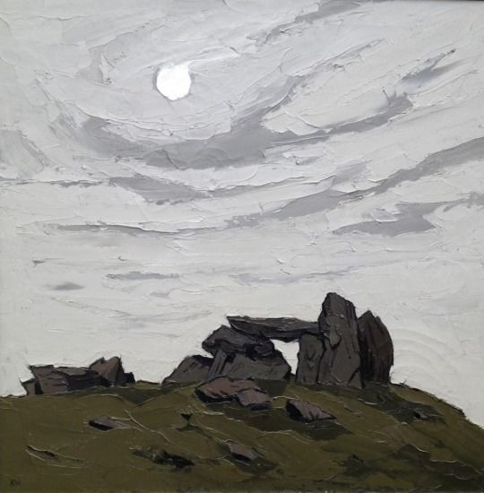 Trefignath, Kyffin Williams. Welsh (1918 - 2006) - Oil on Canvas -