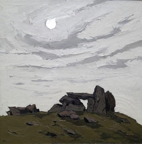 Trefignath, Kyffin Williams. Welsh (1918 - 2006) - Oil on Canvas -