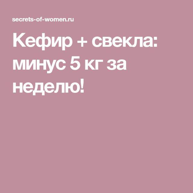 Кефир + свекла: минус 5 кг за неделю!