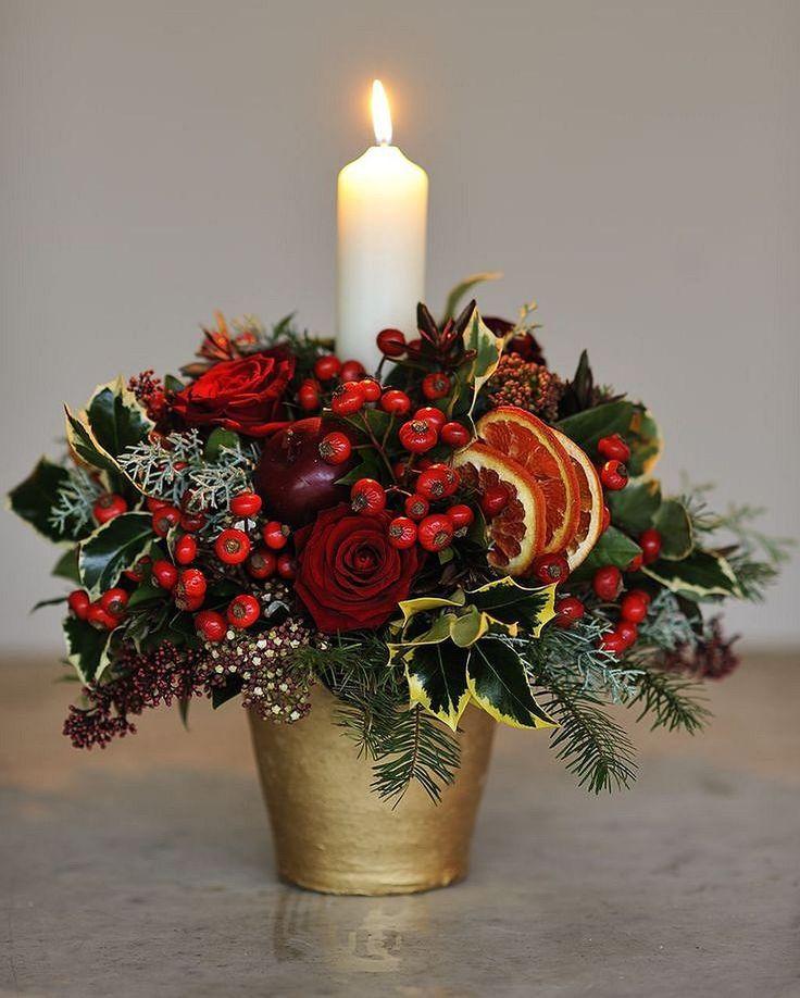 фото с рождеством цветы мелочи