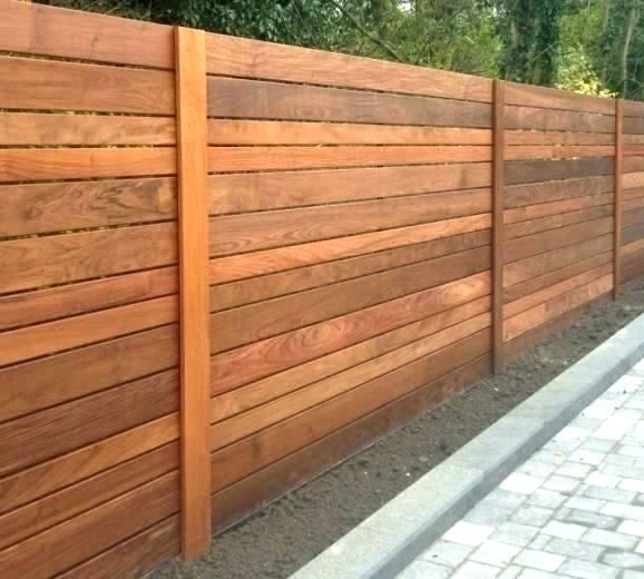 Horizontal Cedar Fence 2x 1x6 1x3 Boards Varying Backyard Fences Fence Panels Modern Fence