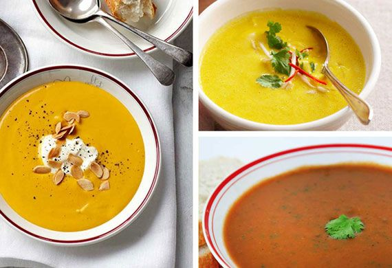 Pumpkin soup comes in many different (but all delicious) guises, from Asian-style ginger-laced varieties to pure cream-and-bacon-loaded comfort. But whatever pumpkin soup you're in the mood for, we've got a recipe sure to leave you begging for more.Click through for 21 irresistible shades of pumpkin soup.