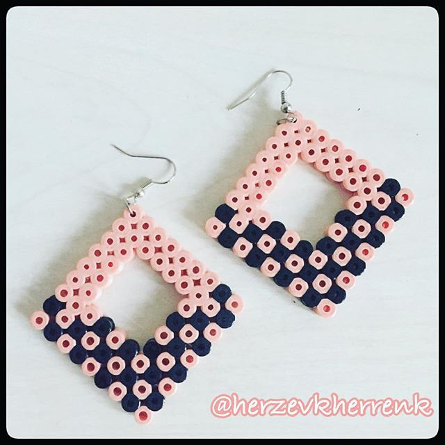 Earrings hama beads by  herzevkherrenk