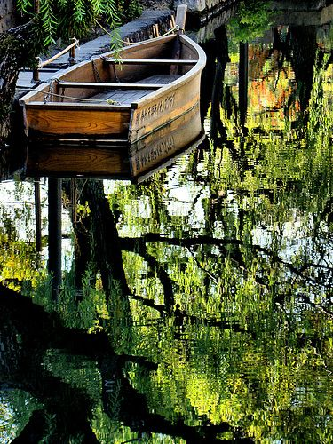 boat water tree reflections in Kurashiki in Okayama Prefecture. by OjisanjkeHistorical District, Japan, Okayama Prefecture, Nature, Wooden Boats, Reflections, Photos Of Boats On Water, Mirrors Lakes, Fly Fishing