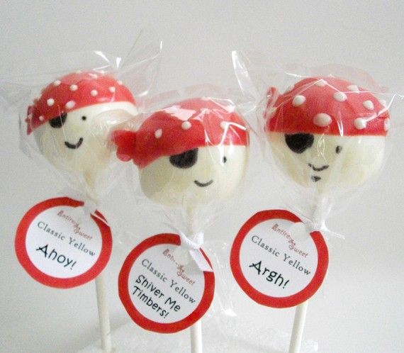 Pirate cake pop favors for the pirate birthday party?