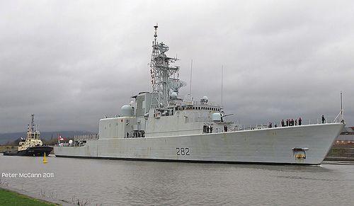 HMCS Athabaskan 282 Canadian Navy