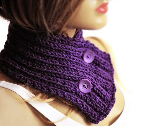 The #Chunky #Cowl Neckwarmer Scarf and one cuff bracelet by selenayy #etsy #scarf #accessory #women #scarves #gift #womensfashion