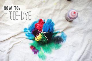 How To Tie-Dye.  Fun summer activity. :-)