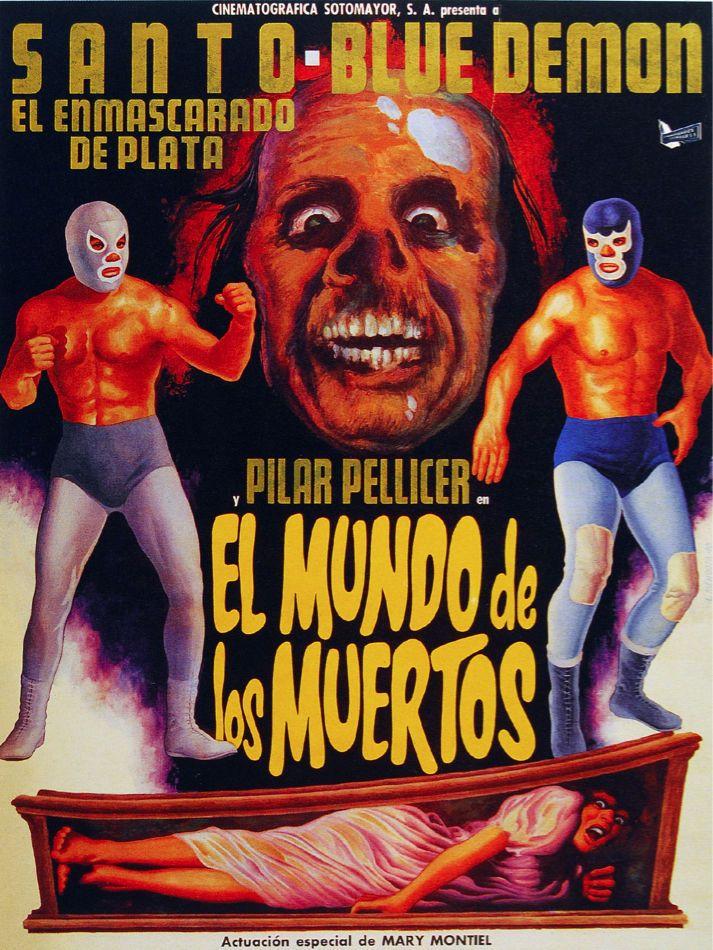 Details About 5942 Santo Blue Demon El Mundo De Los Muertos Poster