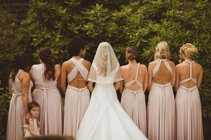 Multiway Dresses | Matt Penberthy Photography | Rustic Wedding at Ramster Hall in Surrey | Pronovias Bridal Gown | Pink Coast Bridesmaid Dresses