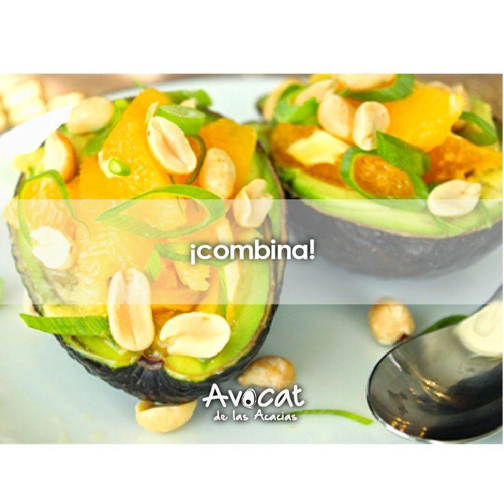Deliciosos aguacates rellenos de naranja  perfectos para comenzar tu semana http://www.recetin.com/aguacates-rellenos-naranja.html#avocatacacias #aguacatehass #consumemashass