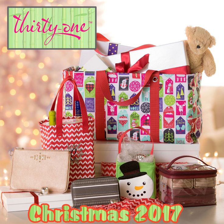 NEW Christmas Goodies... Medium Utility Tote in Hello Holiday, Stackin' Jacksons in Dainty Dot, Littles Carry-All Caddy in Cool Cutie, Twice As Nice Tote in Chevron Dash, Keepin' Cozy Scarf in Chevron Dash, Total Beauty Trio in Deep Merlot Pebble, Rubie Mini in Rose Glow Pebble w/ Gems. Check out everything online at MyThirtyOne.com and look in the upper right corner to select your consultant.