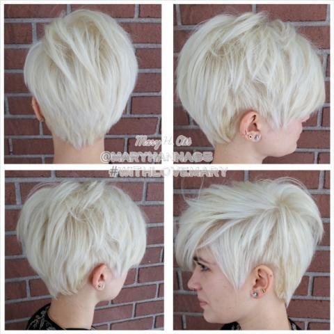 10 korte kapsels met een heerlijke platina blonde kleur