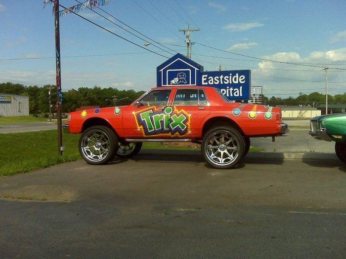 Ghetto Cars With Big Rims Strange Ghetto Big Rim Custom Cars