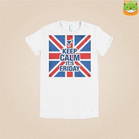 Koszulka damska -  keep calm it's friday, koszulki z nadrukiem, koszulki na prezenty, prezent dla Twojej dziewczny