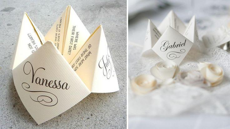 Le marque-place façon origami