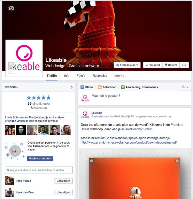 De #Facebook-pagina van #LikeableDesign op 8 december 2014