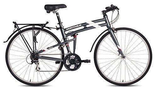 New Montague Urban Folding 700c Pavement Hybrid Bike Smoke Silver 19inch Hybrid Bike Used Bikes Folding Bike