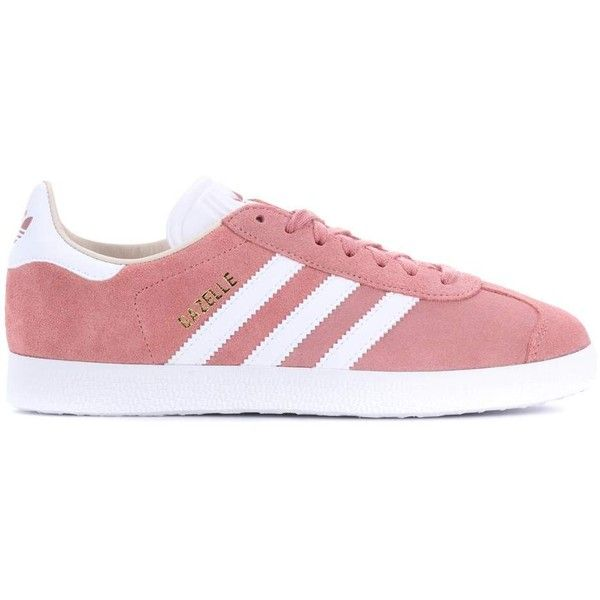 Adidas Originals Gazelle Suede Sneakers ($120) ❤ liked on Polyvore featuring shoes, sneakers, adidas originals, pink shoes, adidas originals trainers, pink suede sneakers and adidas originals sneakers
