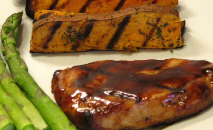 Grilled BBQ Center Cut Pork Chops
