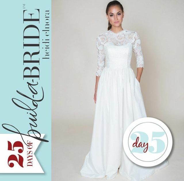 Merry Christmas loves! This is our final look for the 25 Days of build-a-bride Giveaway! The LaLa Phillips layered with the Catherine 3/4 Sleeve Cover Up is hands down one of our favorite combinations... And it even made the cover of Alabama Weddings Magazine! Voting ends January 8th, so there is still time to nominate yourself or a friend! Email info@heidielnora.com for an application.