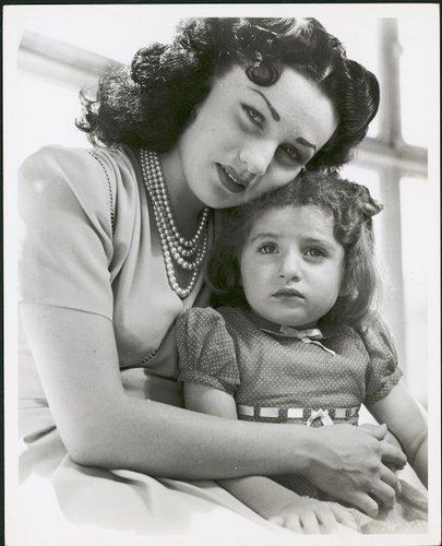 HIM Empress Fawzia (HRH Princess Fawzia of Egypt) with Her Daughter from The Shah of Iran, HIH Princess Shahnaz Pahlavi.