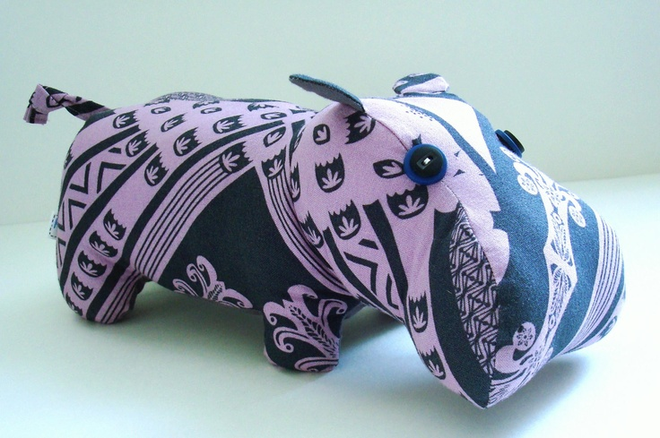 Loulouthi Hippo by KittyKittyCrafts on Etsy
