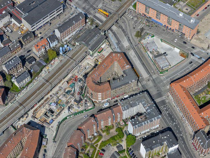 Se billederne: Sådan ser metrobyggeriet ud oppefra - Byliv | www.aok.dk