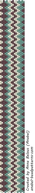 "Схема браслета ""Зигзаг"" - мозаичное плетение free peyote pattern #beadwork #bracelet"