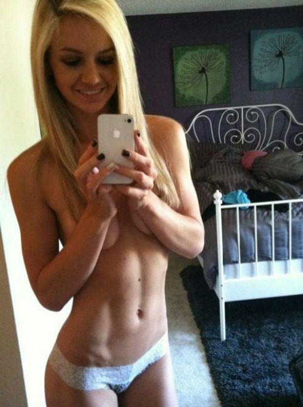 Healthy naked teen girl