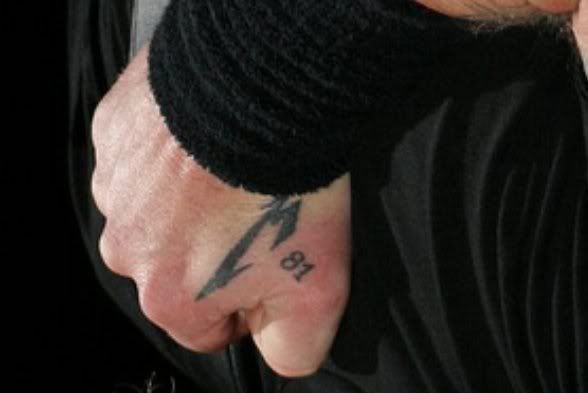 James Hetfield's M81 hand tattoo