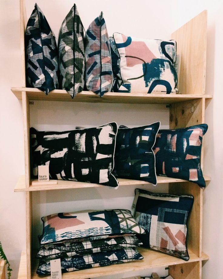 Laura Slater's impressionistic textiles at Design Junction. Design Junction & Tent London 2015 | Design Soda : Interiors Blog
