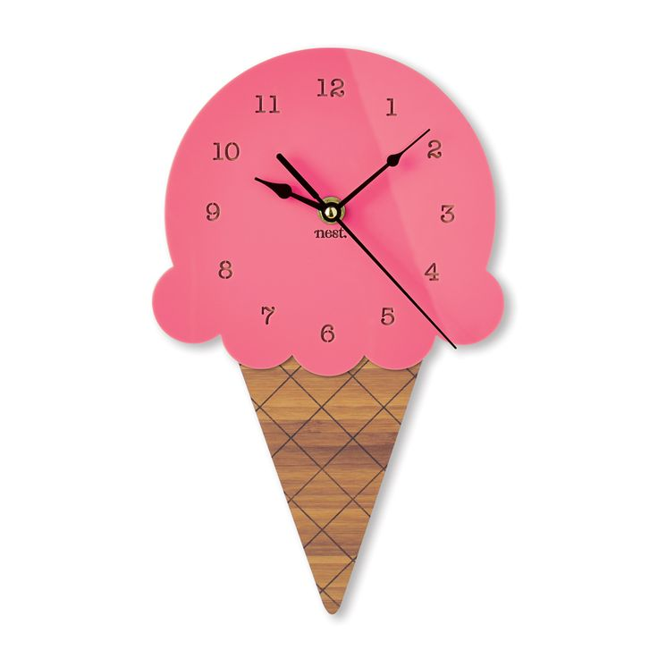 I scream, you scream, we all scream for Ice Cream! Our NEW Ice Cream Wall Clock comes in 4 super sweet  Colours. $109  PRODUCT DETAILS • Measures 29cm high x 18cm wide