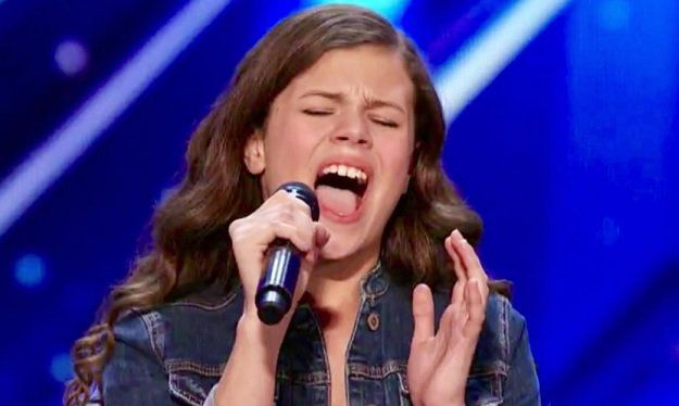 The judges of America's Got Talent, Season 12 (Simon Cowell, Mel B, Howie Mandel, and Heidi Klum) will be bowled-over by 12-year-old singer Angelina Green from Miami, Florida. It's diff…