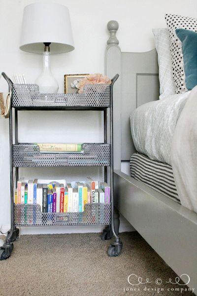 metal cart for nightstand