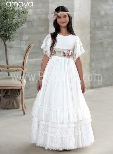 2b12bf6479 Baunda Vestido comunión boho Amaya 2018 modelo 921 en Madrid y tienda online