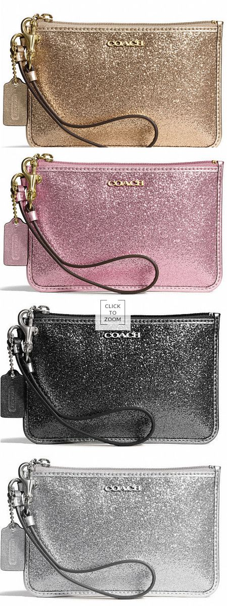 LOVE these Coach wristlets! Perfect addition to any holiday outfit!